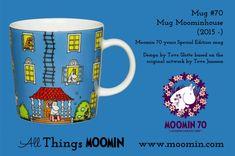 Mug – Moominhouse ( Moomin 70 years ) Produced: 2015 – Illustrated by Tove Slotte based on the. Moomin Mugs, Moomin Valley, Tove Jansson, Mug Designs, Finland, Original Artwork, Childhood, The Originals, Tableware