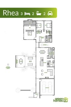 Green Homes Australia - Your Trusted Green Home Builder Green House Design, Garage Entry, Energy Efficient Homes, Australian Homes, House Layouts, Home Builders, House Plans, Floor Plans, How To Plan