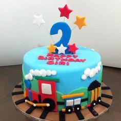 Little boys train theme birthday