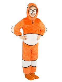 Süsser Clownfisch Kinderkostüm orange-weiss, aus unserer Kategorie Karnevalskostüme Kinder. Ein putziger Clownfisch, den man zum Glück nicht erst finden muss! Der kleine Meeresbewohner schwimmt den ganzen Tag mit seinen Fischfreunden durch das Riff und erfreut sich an der bunten Vielfalt. Ein knuffiges Kinder Kostüm für Karneval und Mottopartys.