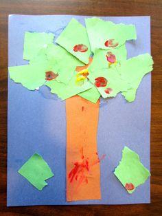 Build An Apple Tree (Preschool & Toddler Craft) | Preschool Powol Packets