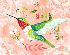 Colibri horizontal print by thewheatfield on Etsy