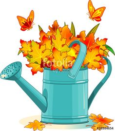 """Download the royalty-free vector """"Watering can"""" designed by Anna Velichkovsky at the lowest price on Fotolia.com. Browse our cheap image bank online to find the perfect stock vector for your marketing projects!"""