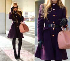 Look: THE PLUM COAT - Henar Vicente - Trendtation