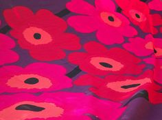 Designed by Maija Isola, Dreamy! but way too expensive for me! Textures Patterns, Print Patterns, Marimekko Fabric, Vintage Fabrics, Vintage Home Decor, Scandinavian Design, Etsy Vintage, Poppies, Printing On Fabric