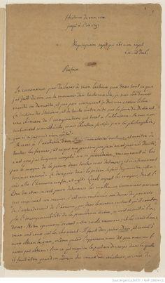 "Preface and beginning of chapter, manuscript of Giacomo Casanova (his ""Memoirs"" Giacomo Casanova, Penmanship, Letter Writing, Jaba, Memoirs, Sheet Music, Lettering, Scripts, Handwriting"