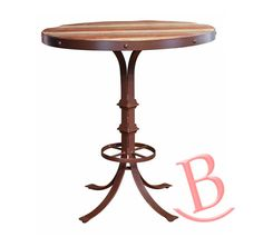 Rustic Eric Top Multicolor Finish Iron Base Footrest Bistro Table Rustic Chic…
