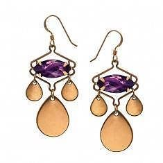 ALEX & ANI KASBAH GRAPE WIRE EARRINGS NWT RTL $38 RUSSIAN GOLD SPARKLING - http://designerjewelrygalleria.com/alex-ani/alex-ani-kasbah-grape-wire-earrings-nwt-rtl-38-russian-gold-sparkling/
