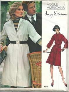 Vintage Womens Sewing Pattern Dress Vogue by Sutlerssundries Vogue Sewing Patterns, Vintage Sewing Patterns, Dress Making Patterns, Shirtwaist Dress, Button Front Dress, Vintage Vogue, Vintage Fashion, One Piece Dress, Couture