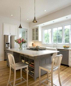 Kitchen island with Stove and Seating. Kitchen island with Stove and Seating. Kitchen Island With Cooktop, Island Cooktop, Kitchen Island With Seating, Kitchen Islands, Kitchen Island Dimensions With Seating, Kitchen Island Overhang, Island Bench, Peninsula Kitchen Design, Island Design