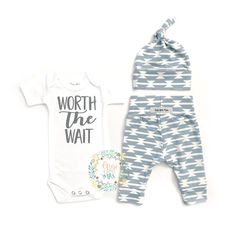 Items similar to Newborn Baby coming home outfit baby blue geo theme going home set Worth the Wait baby shower gift coming home from clothing gift on Etsy Third Baby, First Baby, Gigi And Max, Baby Coming Home Outfit, Baby Kicking, Worth The Wait, After Baby, Baby On The Way, First Time Moms