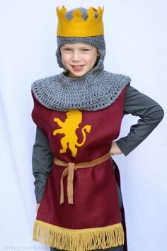knight costume for a Narnia Birthday but great for any chivalrous occasion!