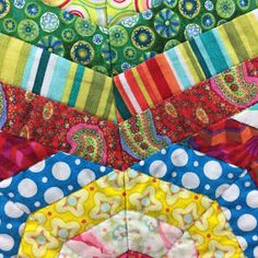 Wendy's Quilts and More: Cobweb Quilt / Millefiori Foundation Paper Piecing, Scrappy Quilts, Hand Quilting, Quilt Blocks, Quilt Patterns, Colours, Fabric, Tejido, Hand Embroidery