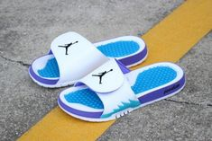 d6e11b5f95295 New Air Jordan Hydro 5 Retro Grape White Black-New Emerald-Grape Ice Jordan  Hydro Slide Sandals