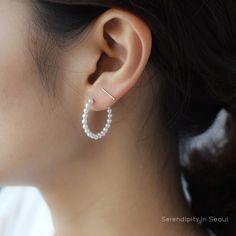 Stud Earrings Thread Line 925 Sterling Solid Silver 9*9mm Star Studs