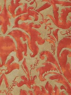 The versatility of orange rugs and coral rugs, is astonishing. Learn how to design eye catching rooms with orange rugs and coral rugs. Textile Fabrics, Textile Patterns, Print Patterns, Dali, Coral Rug, Coral Fabric, Motifs Art Nouveau, Orange Rugs, Fabulous Fabrics