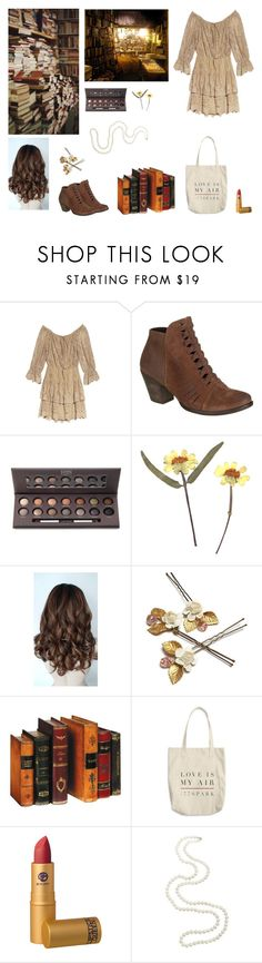 """Magic amongst yellowing pages"" by circe-1emon ❤ liked on Polyvore featuring Alice + Olivia, Free People, Laura Geller, outfit, beautiful, stylish and women"