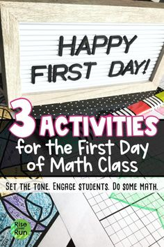 3 Math Activities for the First Day of School – Rise over Run Fun Classroom Activities, First Day Of School Activities, Fun Math Activities, Classroom Procedures, Math Resources, Middle School Writing, Middle School Classroom, Math School, Future Classroom