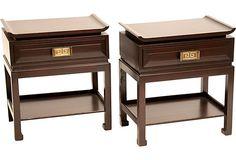 Asian-Style Nightstands, Pair on OneKingsLane.com
