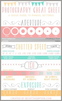 Photography Cheat Sheet for download with purchase