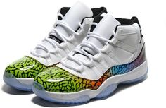 01f5c0369f4e6 Nike Air Jordan XI 11 Retro Men Shoes White Black Multi Color