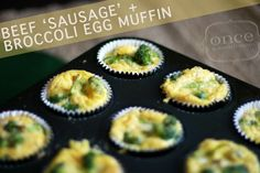"""Paleo Beef """"Sausage"""" and Broccoli Egg Muffins 