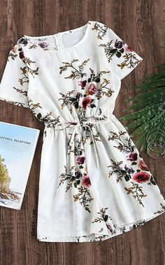 Size: S Style: Vacation Decoration: Zip Pattern Type: Floral Material: Polyester Neckline: Round Neck Color: Multi Sleeve Length: Short Sleeve Fabric: Fabric has no stretch Season: Summer Fit Type: Loose Waist Type: Mid Waist Shoulder(inch): S:15inch, M:15.4inch, L:15.7inch, XL:16.1inch Bust(inch): S:37inch, M:38.6inch, L:40.2inch, XL:41.7inch Waist Size(inch): S:26-36.2inch, M:27.6-37.8inch, L:2... *** To view further for this article, visit the image link.