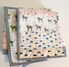 Modern Baby Quilt-Modern Toddler Quilt-Baby Quilt Blanket, Safari, Neon, Tigers…