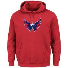 Men s NHL Washington Capitals Long-Sleeve Felt Tek Patch Hoodie - 8590324 6f1709e26
