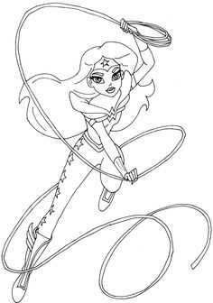 Free Printable Coloring Page For Dc Super Hero Girls Supergirl