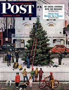 Tree in Town Square by Steven Dohanos, December 4, 1948