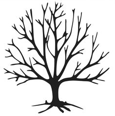 Bare Tree Branches Coloring Pages – Coloring for every day Heart Stencil, Tree Stencil, Stencils, Tree Templates, Leaf Template, Tree Coloring Page, Coloring Pages, Tree Outline, Bare Tree