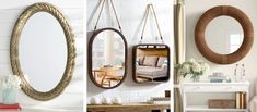 Best Rope Mirrors and Nautical Wall Decor! Discover the top-rated nautical themed rope wall decorations and rope themed mirrors. Nautical Bathroom Mirrors, Nautical Mirror, Nautical Wall Decor, Beach Wall Decor, Nautical Rope, Round Mirror With Rope, Rope Mirror, Round Wall Mirror, Top Rated