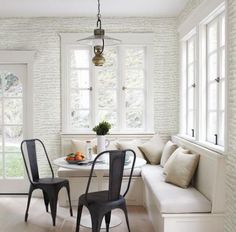 Ideas For Kitchen Corner Window Seat Interior Design Kitchen Corner Bench Seating, Kitchen Corner Booth, Window Seat Kitchen, Corner Banquette, Corner Nook, Banquette Seating, Kitchen Dining Living, Dining Nook, Small Dining
