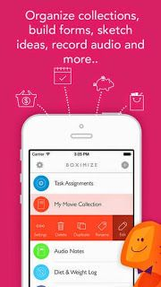 Boximize: Structured note taking app, personal database, form builder and organizer