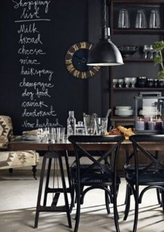 would love a black kitchen (all the better to hide grime in!)