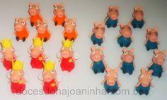 Doces modelados Peppa Pig e Família