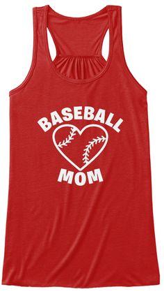 Baseball Mom Shirts 166 Red T-Shirt Front