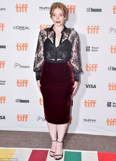 Stunner: Bryce Dallas Howard wowed in a dark hued look with bold lipstick for…