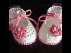 mocasines tejidos a crochet para bebe - YouTube