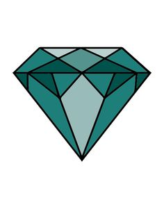 Geometric Gemstone Print, Diamond Art, April Birthstone, faceted gemstone, Modern Scandinavian Decor, Instant Download Printable Wall Art, by tothewoodside on Etsy