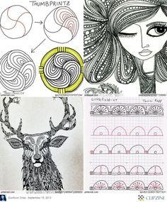 Zentangle Patterns & Ideas by nic heart