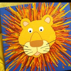 Melted Crayon Lion: cute!