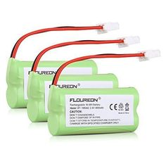 Floureon 3 Packs 2.4V 800mAh Cordless Home Telephone Phone Ni-MH Battery Pack for AT&T VTech BT166342 BT266342 BT183342 BT28334