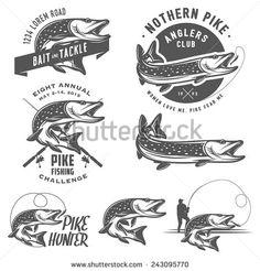 retro fishing logo - Google Search