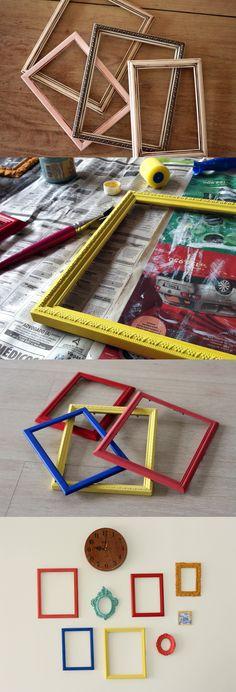 DIY: Reciclando molduras antigas - {natzfirefly}