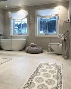 Bygget drømmehuset fra Fiskarhedenvillan Bathroom Inspiration, Corner Bathtub, Alcove, Dream Homes, Homes, Dream Houses, Dream Mansion, Corner Tub