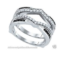 White Gold Solitaire Enhancer Ring Guard Wrap (0.50ct. tw)- RG221484078561
