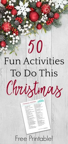 50 Fun Christmas Activities to Add to Your Bucket List - The Stress-Free Christmas