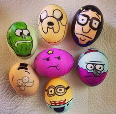 "Easter Eggs (""My Leg"" fish, Jake, Tina, Pops, LSP, Benson, Minion)"